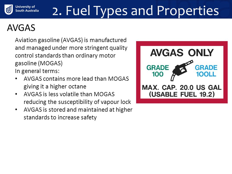 AVGAS Aviation gasoline (AVGAS) is manufactured and managed under more stringent quality control standards than ordinary motor gasoline (MOGAS) In gen
