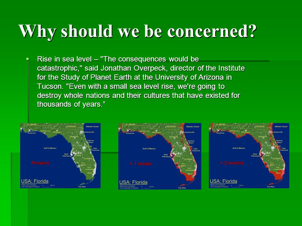 Why should we be concerned.