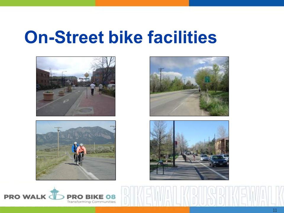 11 On-Street bike facilities