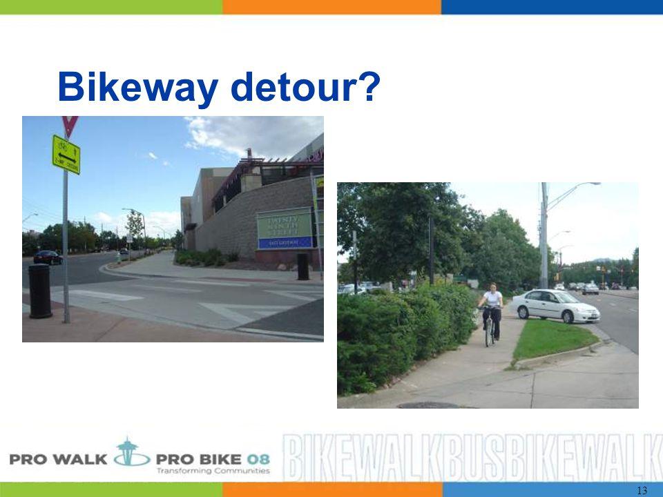 13 Bikeway detour
