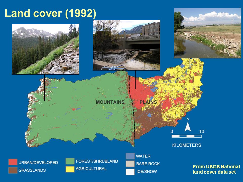 From USGS National land cover data set Land cover (1992)