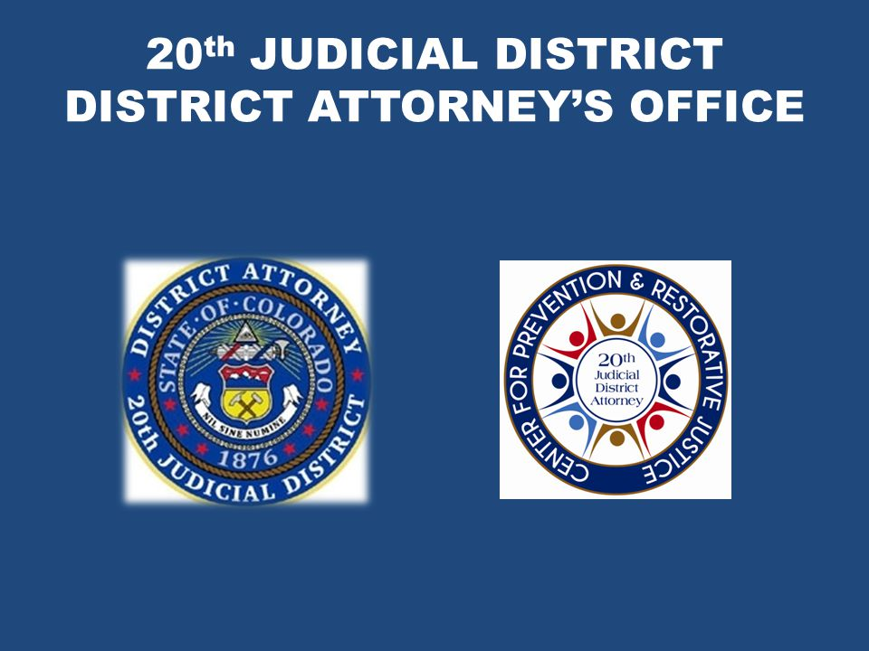 20 th JUDICIAL DISTRICT DISTRICT ATTORNEY'S OFFICE