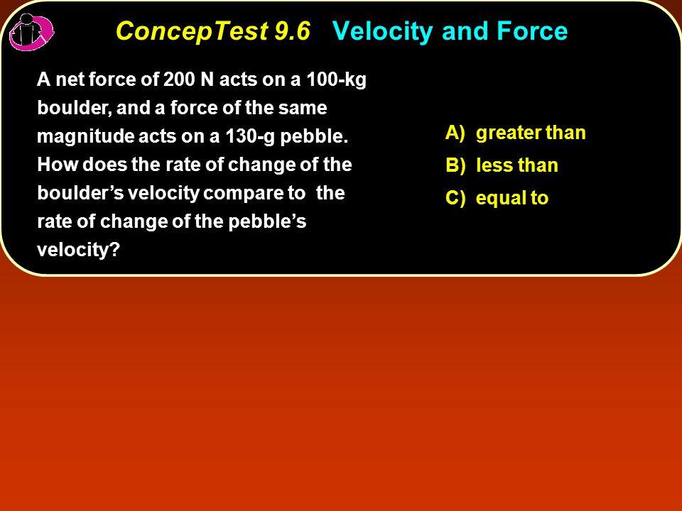 ConcepTest 9.14Going Bowling II ConcepTest 9.14 Going Bowling II p p W =  KE less massgreater speed(why?)greater KE(why again?) W = Fd same less massive ballbigger Use the work-energy theorem: W =  KE.