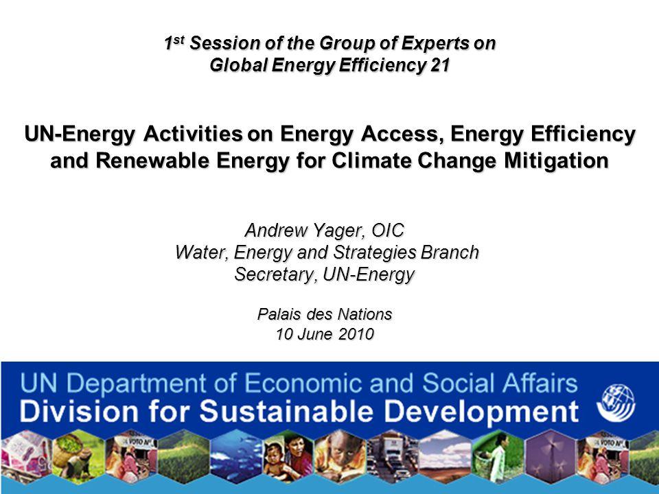 2 Presentation Contents Part 1: UN-Energy Part 2: Case Study (Kenya) Part 3: UN DESA activities