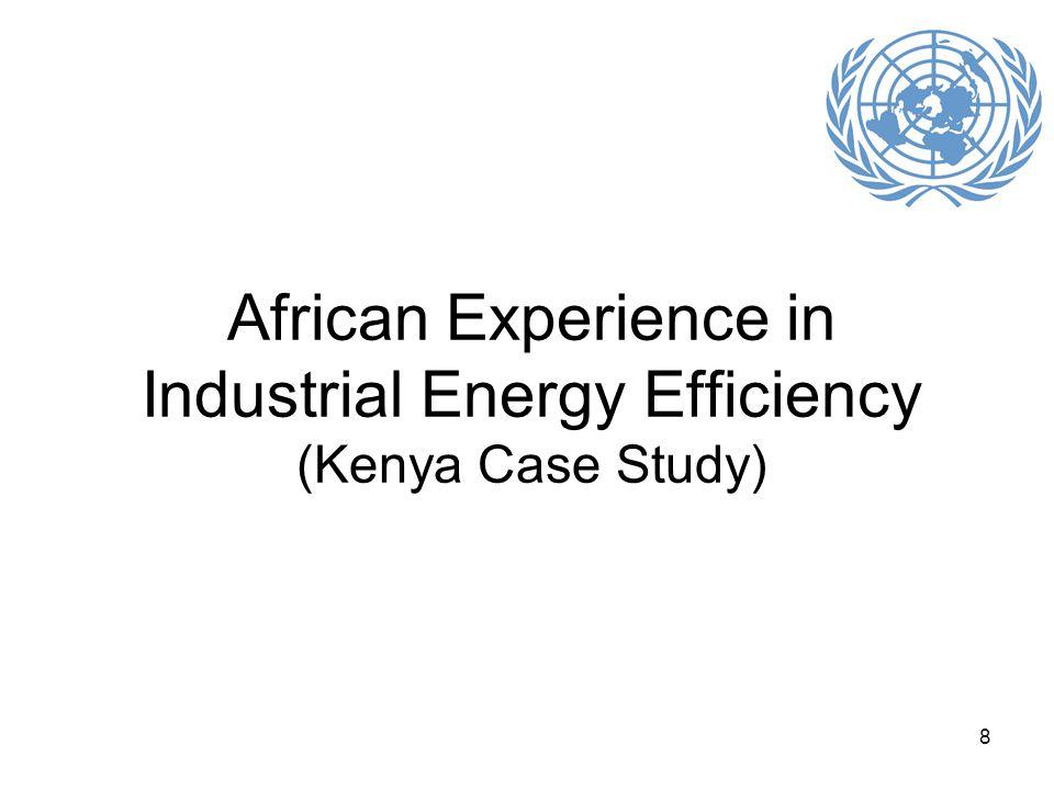 8 African Experience in Industrial Energy Efficiency (Kenya Case Study)