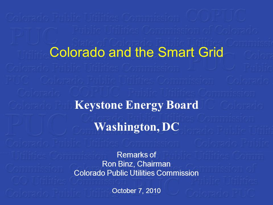 Extra Credit: Using the Colorado PUC E-filing System Go to www.dora.state.co.us/pucwww.dora.state.co.us/puc Follow links to E-filing system Select Search option Enter Proceeding Number Smart Grid Privacy Case: 09I-593EG Smart Grid Policy Case: 10I-099EG