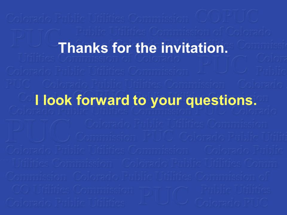 Thanks for the invitation. I look forward to your questions.