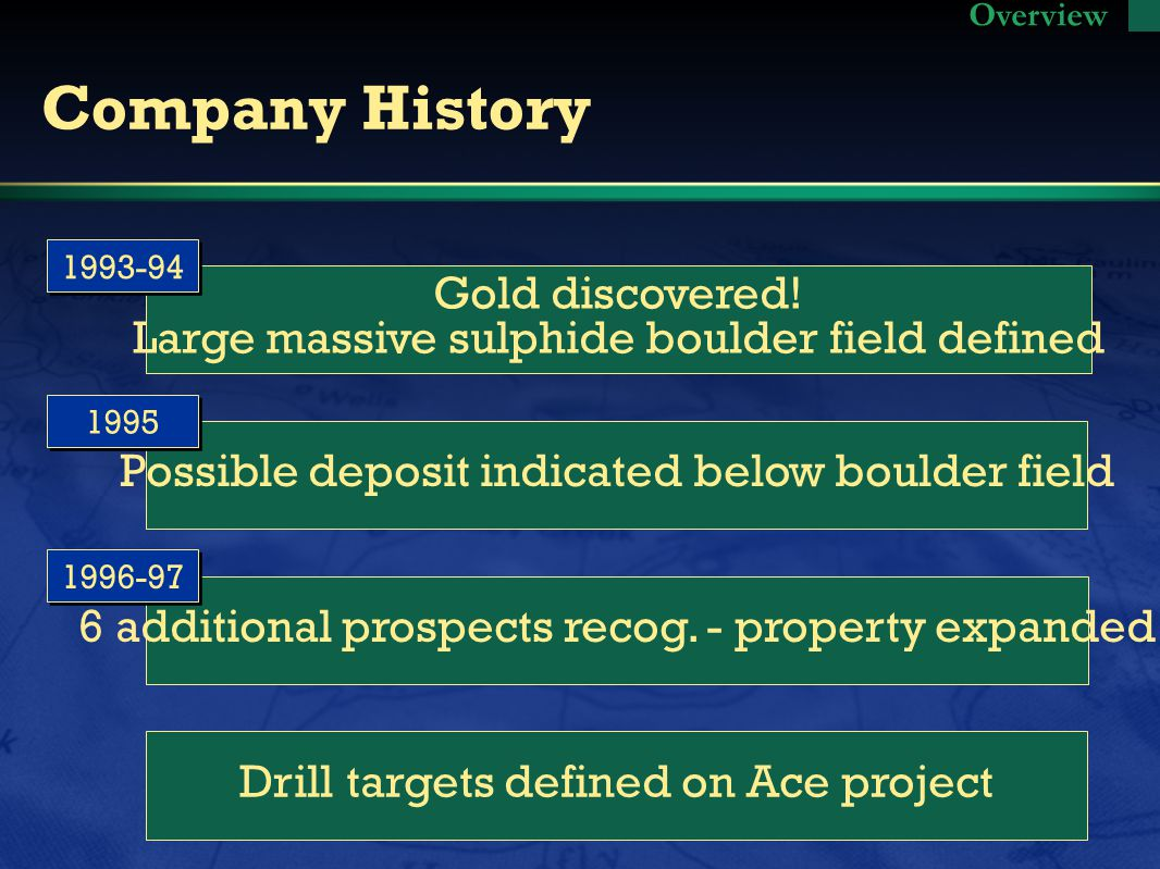 Company History Gold discovered.