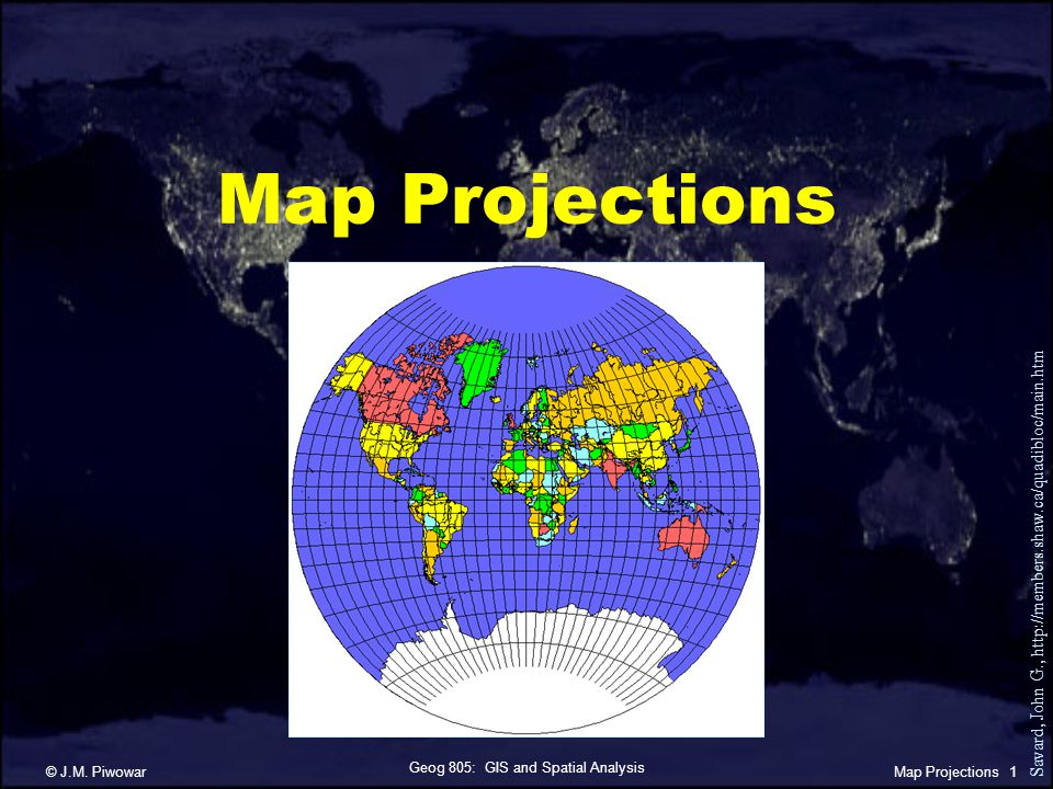 Geog 805: GIS and Spatial Analysis © J.M.