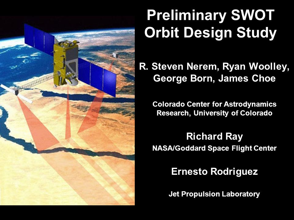 Preliminary SWOT Orbit Design Study R.