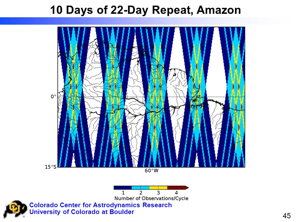University of Colorado at Boulder Colorado Center for Astrodynamics Research 45 10 Days of 22-Day Repeat, Amazon