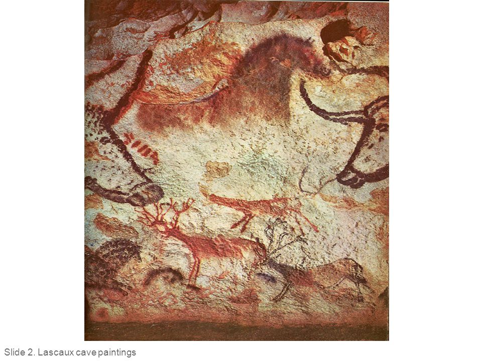 Slide 2. Lascaux cave paintings