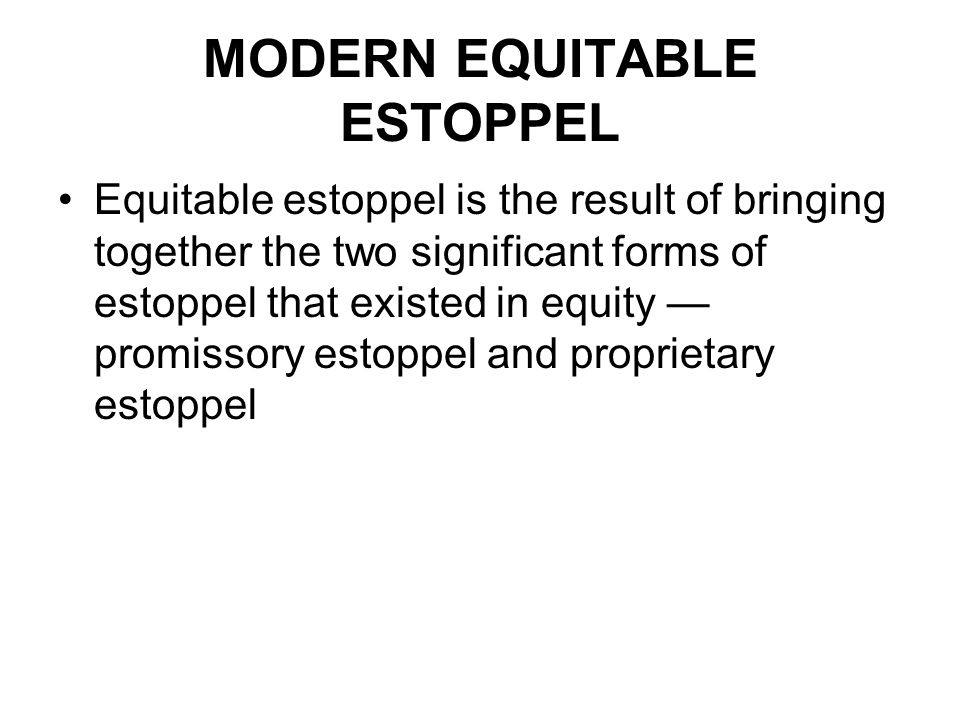 Bringing Estoppel together Brennan J, in Waltons, at CLR 428–9; ALR 542, set out what he saw as the elements that had to be satisfied, as follows: In my opinion, to establish an equitable estoppel, it is necessary for a plaintiff to prove that (1) the plaintiff assumed that a particular legal relationship then existed between the plaintiff and the defendant or expected that a particular legal relationship would exist between them and, in the latter case, that the defendant would not be free to withdraw from the expected legal relationship; (2) the defendant has induced the plaintiff to adopt that assumption or expectation; (3) the plaintiff acts or abstains from acting in reliance on the assumption or expectation; (4) the defendant knew or intended him to do so; (5) the plaintiff's action or inaction will occasion detriment if the assumption or expectation is not fulfilled; and 6) the defendant has failed to act to avoid that detriment whether by fulfilling the assumption or expectation or otherwise.