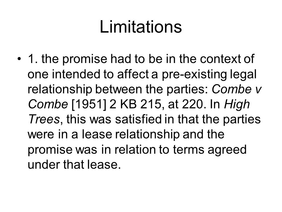 Limitations 2.