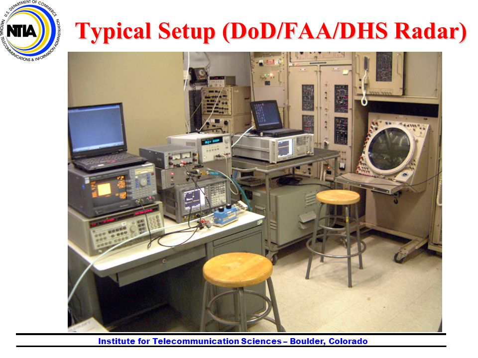 Institute for Telecommunication Sciences – Boulder, Colorado Typical Setup (DoD/FAA/DHS Radar)