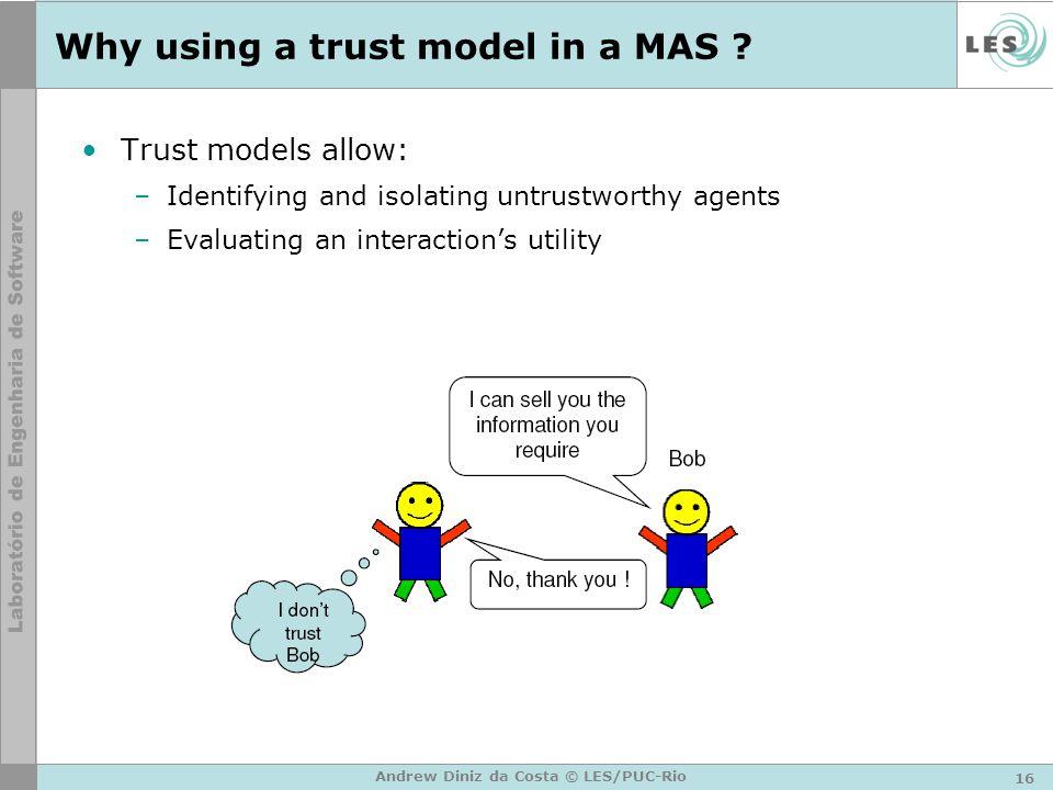 16 Andrew Diniz da Costa © LES/PUC-Rio Why using a trust model in a MAS .