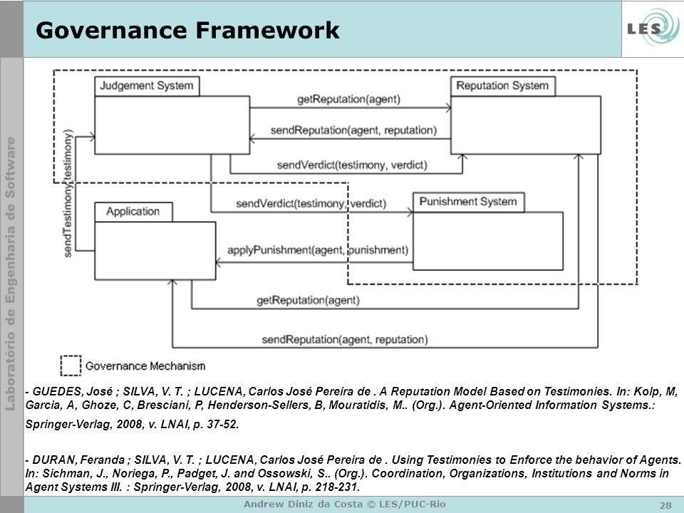 28 Andrew Diniz da Costa © LES/PUC-Rio Governance Framework - GUEDES, José ; SILVA, V.