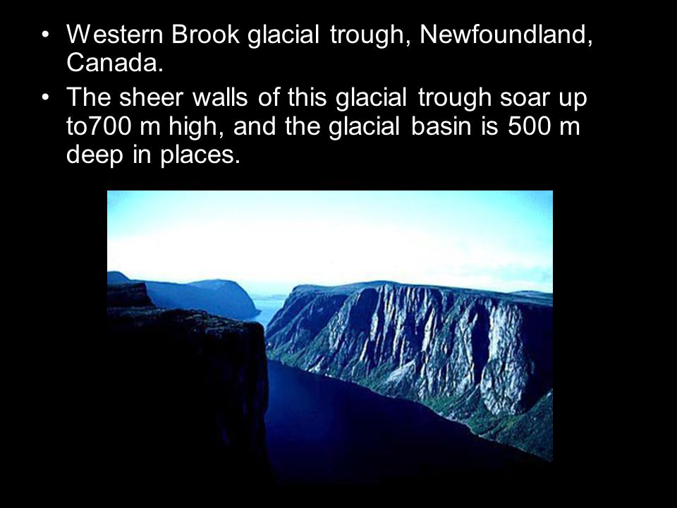 Western Brook glacial trough, Newfoundland, Canada.