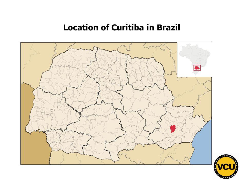 77 Location of Curitiba in Brazil