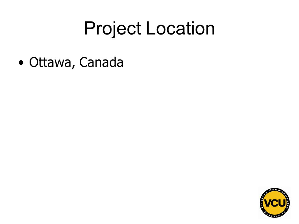 84 Project Location Ottawa, Canada