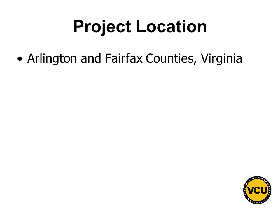 92 Project Location Arlington and Fairfax Counties, Virginia