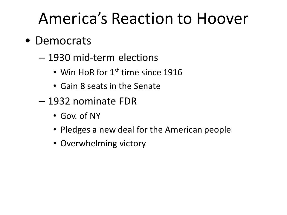 Hoover encourages Americans to remain confident