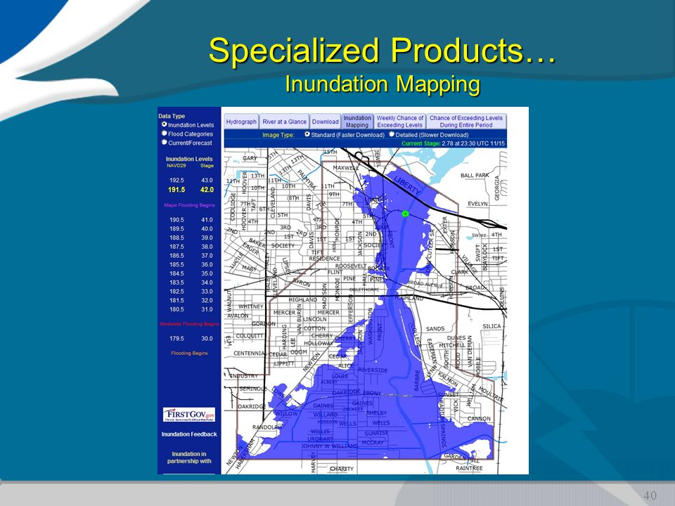 Specialized Products… Inundation Mapping 40
