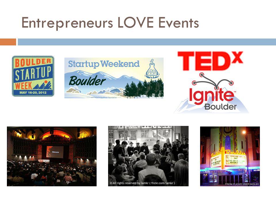 Entrepreneurs LOVE Events