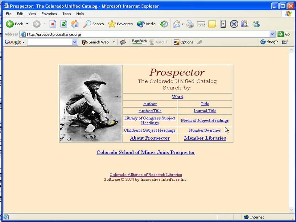 Prospector Screen Shot