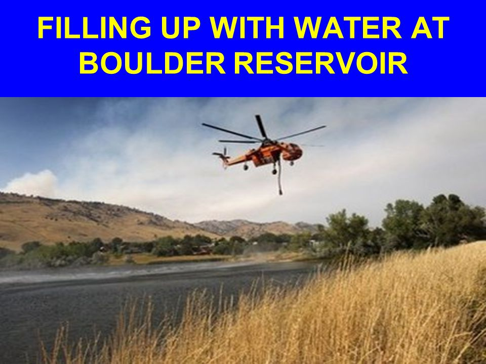 FILLING UP WITH WATER AT BOULDER RESERVOIR