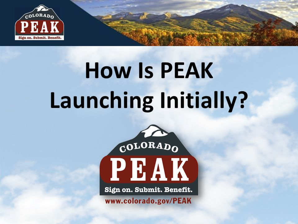 How Is PEAK Launching Initially