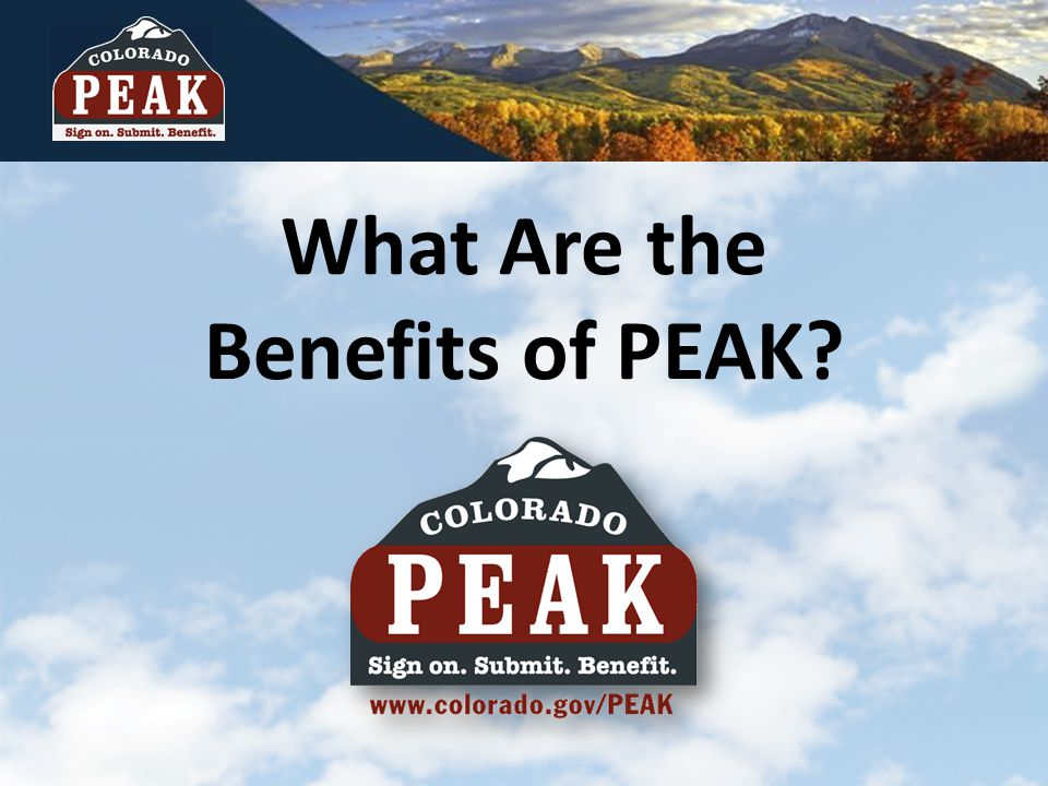 What Are the Benefits of PEAK