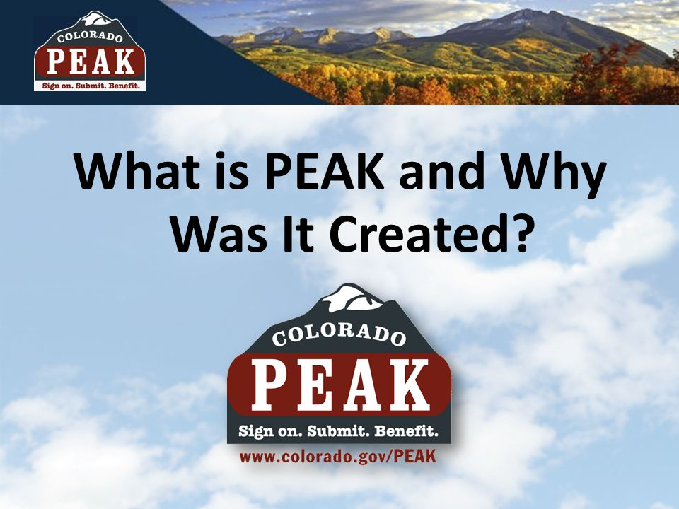 ? What is PEAK and Why Was It Created?