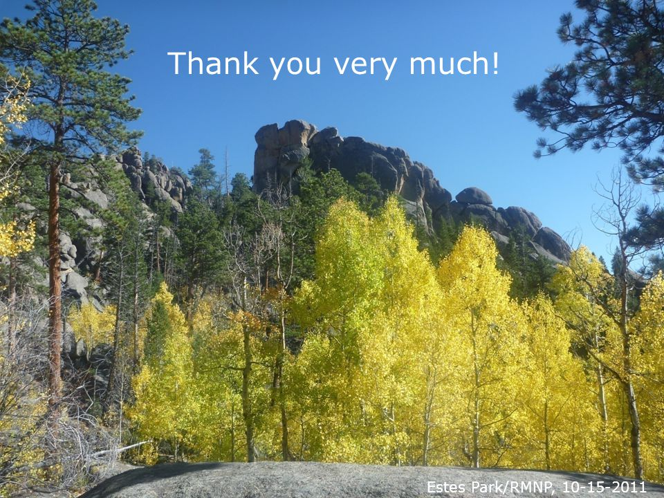 Thank you very much! Estes Park/RMNP, 10-15-2011