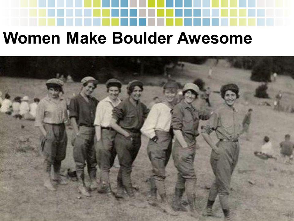 Women Make Boulder Awesome