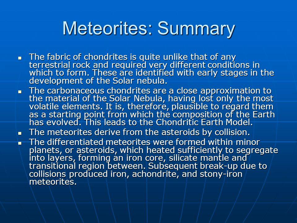 Meteorites Meteorites Meteorites