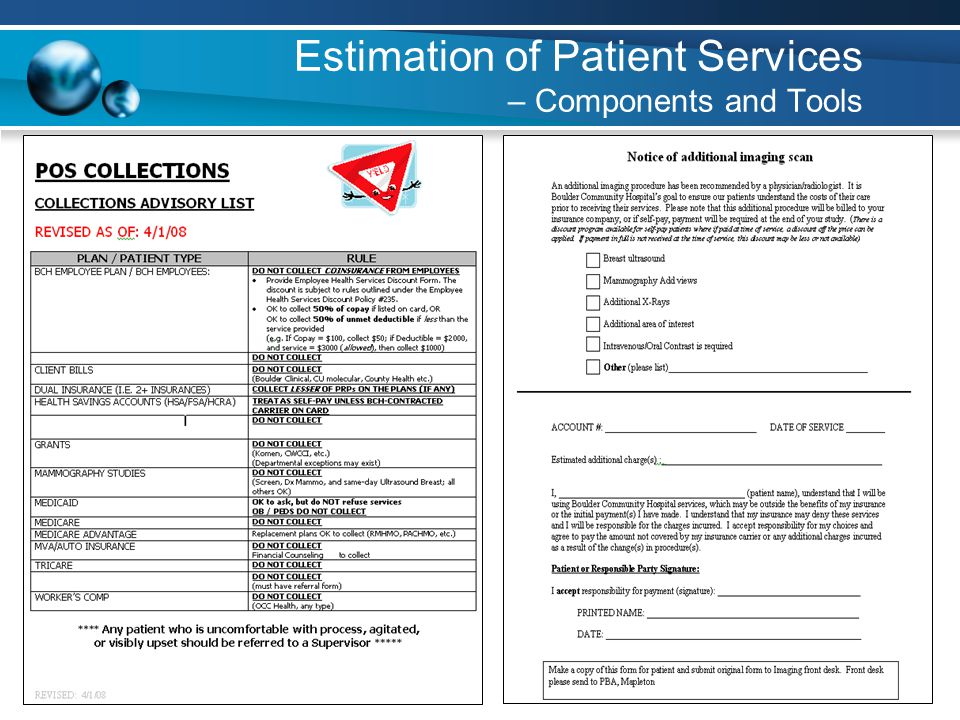 40 Estimation of Patient Services – Components and Tools