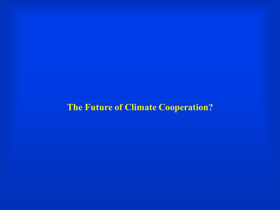 The Future of Climate Cooperation