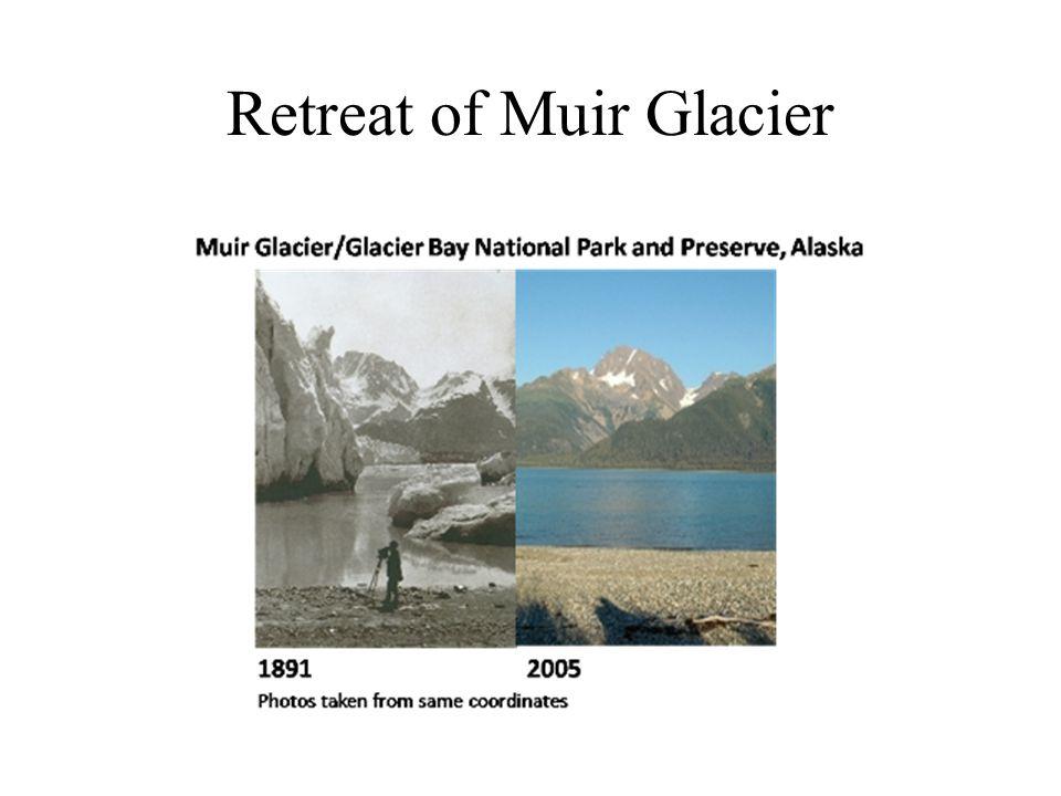 Retreat of Muir Glacier