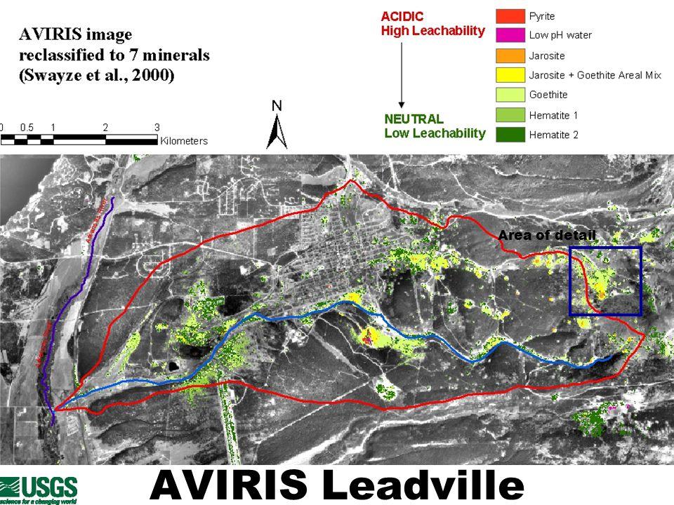 AVIRIS Leadville Area of detail