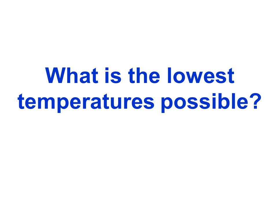 What is temperature Zero degree Kelvin (-273 degrees Celsius, -460 degrees Fahrenheit) is the zero point for energy