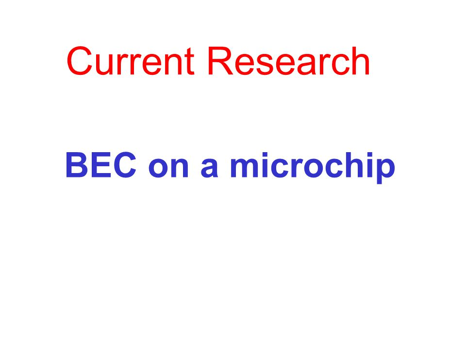 BEC on a microchip Current Research
