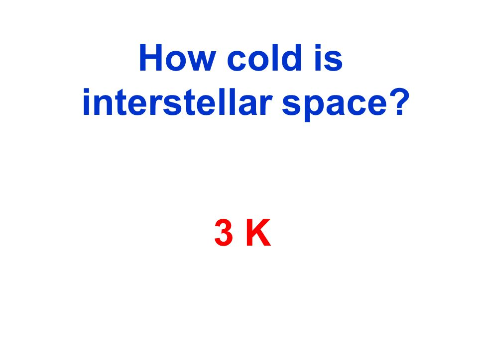 How cold is interstellar space 3 K