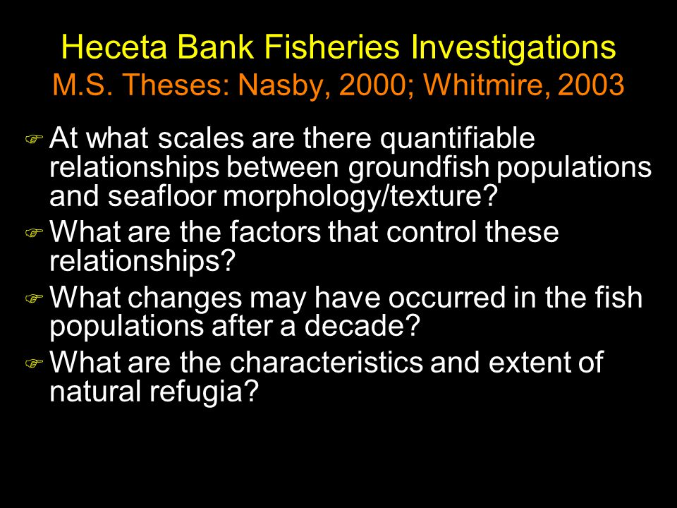 Heceta Bank Fisheries Investigations M.S.