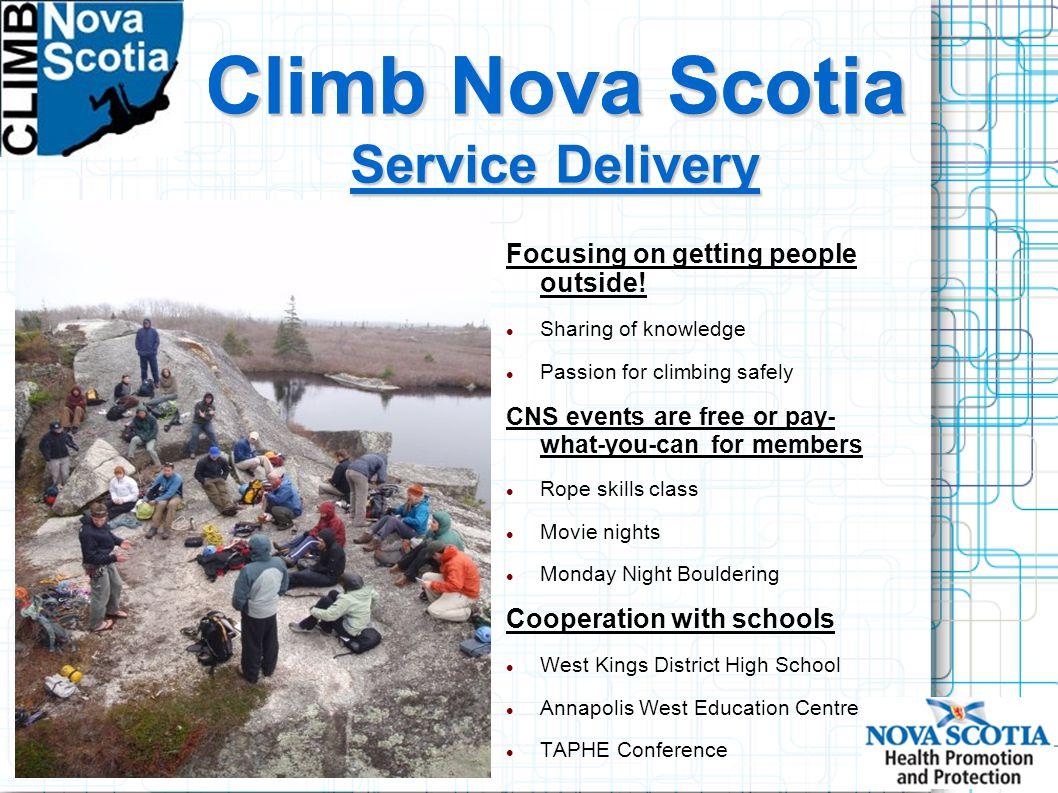 Climb Nova Scotia Focusing on getting people outside.