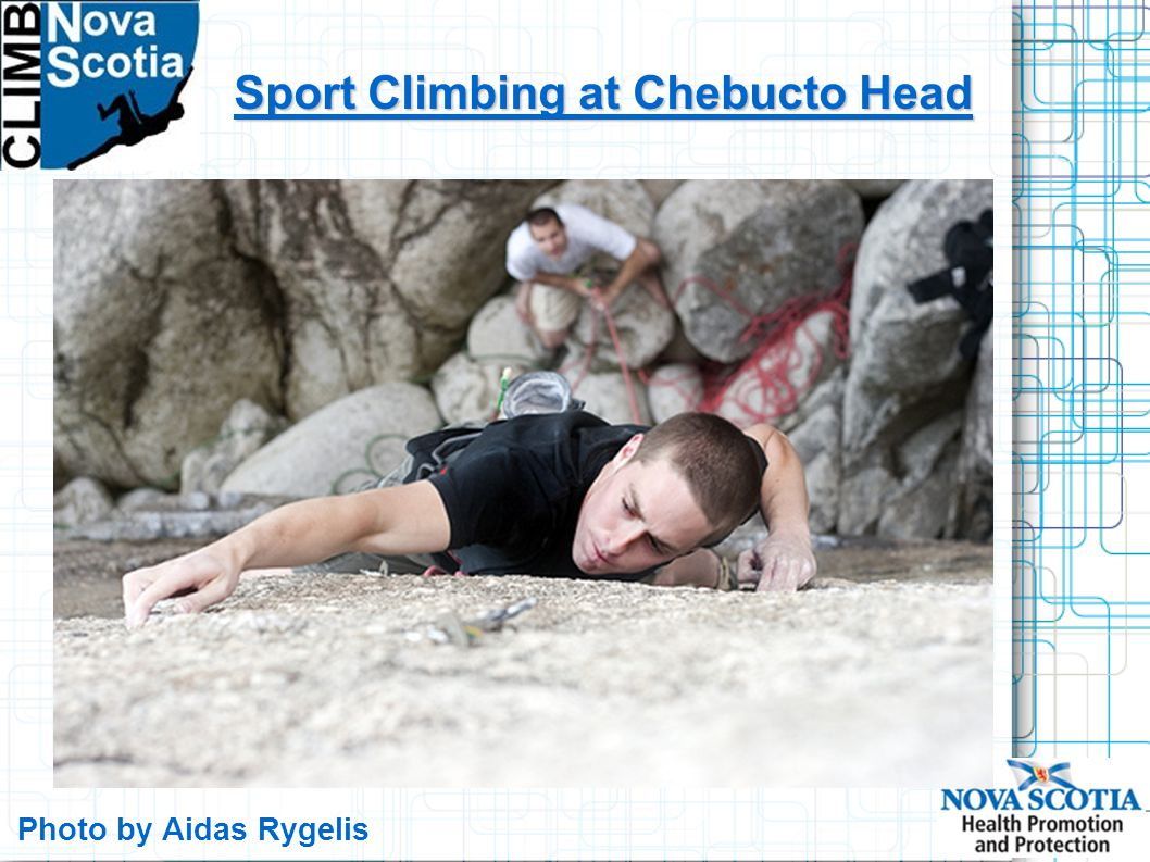 Photo by Aidas Rygelis Sport Climbing at Chebucto Head