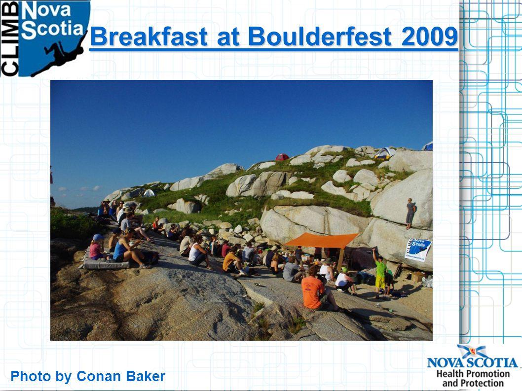 Breakfast at Boulderfest 2009 Photo by Conan Baker