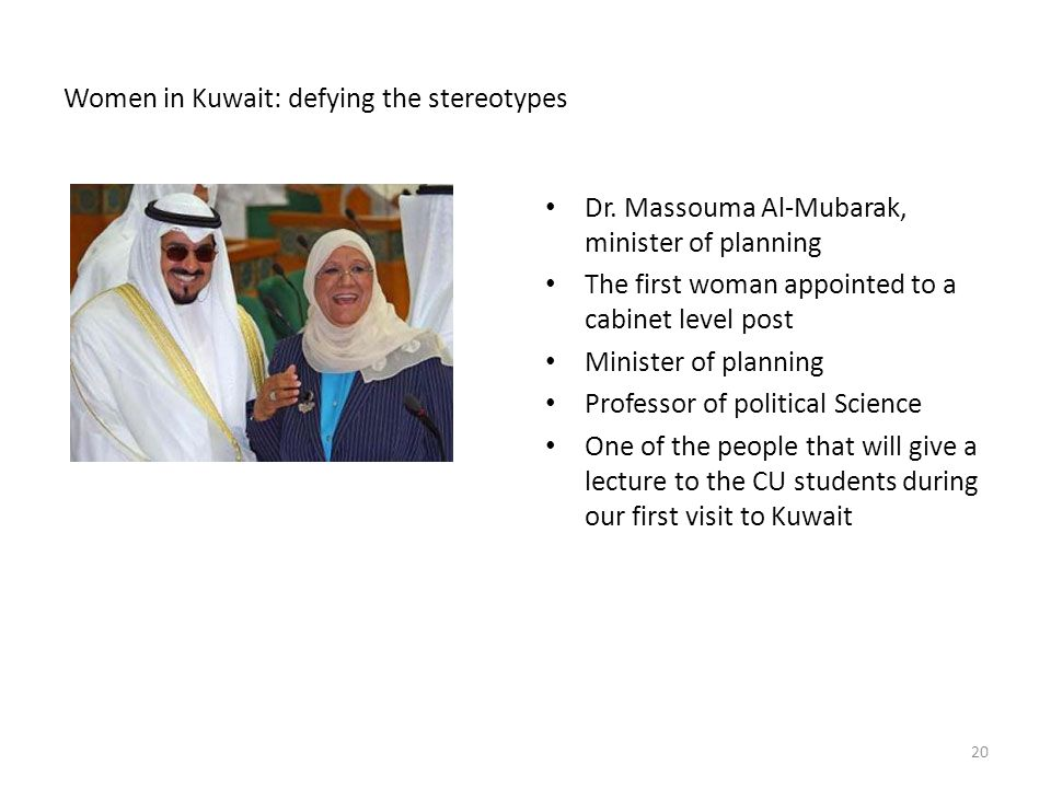 Women in Kuwait: defying the stereotypes Dr.