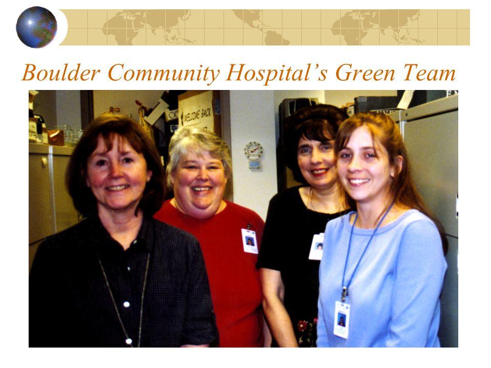 Boulder Community Hospital's Green Team