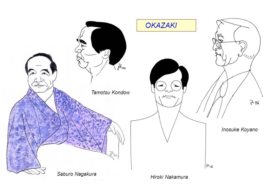 OKAZAKI Saburo Nagakura Hiroki Nakamura Inosuke Koyano Tamotsu Kondow